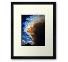 Through the smoke  Framed Print