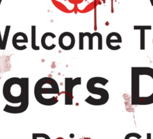 Midsomer Madness - Welcome To Badgers Drift Sticker