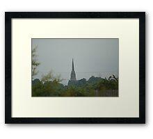 Church on a Hill Framed Print