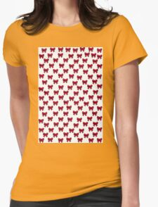 Sketch Emojis - Pink Bows Womens Fitted T-Shirt