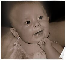 Lydia Posing For Her Granddad Poster