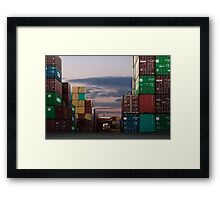 Shipping Crates Framed Print