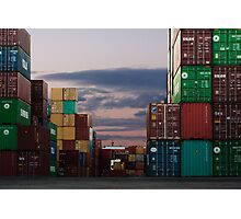 Shipping Crates Photographic Print