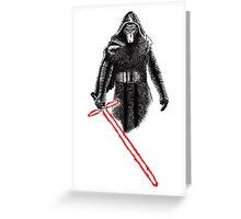 Kylo Ren Star Wars art Greeting Card