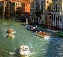 Light Traffic on the Grand Canal Sticker