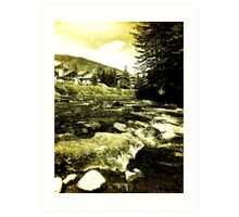 Vintage Gore Creek, Colorado Art Print