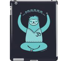 Om Yoga Sloth - blue iPad Case/Skin