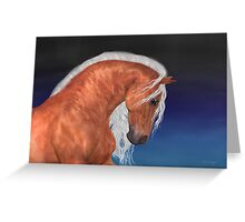 Apollo .. Golden Stallion Greeting Card