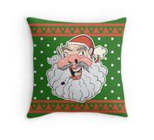 Ugly Santa Ugly Christmas Sweater Throw Pillow