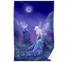 Luminescent Fairy & Dragon Art Poster