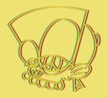 Rasta style Bisto Head tee in yellow by MrBisto