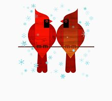 Cardinals and Snow Unisex T-Shirt