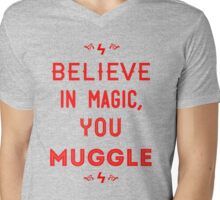 Believe in Magic  Mens V-Neck T-Shirt