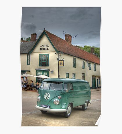 The Angel and the VW Camper Poster