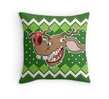 Ugly Reindeer ugly Christmas Sweater Throw Pillow