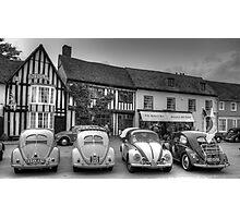 VW Beetles, Lavenham, Suffolk Photographic Print