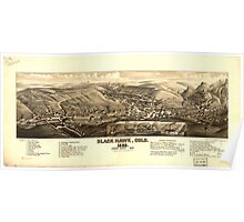 Panoramic Maps Black Hawk Colo 1882 Poster