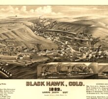 Panoramic Maps Black Hawk Colo 1882 Sticker