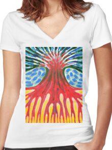 I Be Burning-Hot Women's Fitted V-Neck T-Shirt