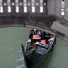 Gondola, Bridge, Venice by beardyrob