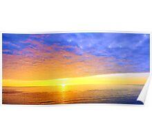 Beautiful Sea Sunset Poster