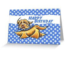 Havanese Polka Dots Birthday Card Greeting Card