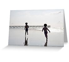 Boys on the Beach II Greeting Card
