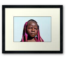 Mary 14 yeard old. Kebbe State, Nigeria. Framed Print