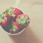 Berries in a cup by Julia Goss