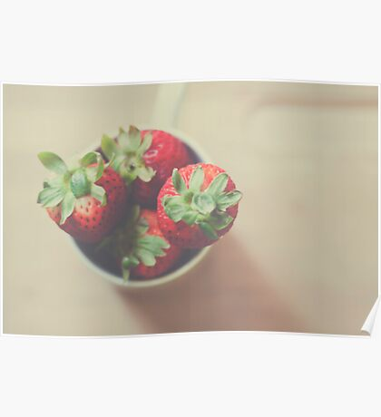 Berries in a cup Poster