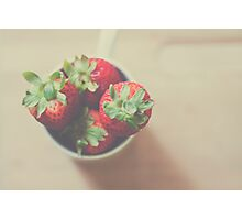 Berries in a cup Photographic Print
