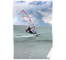 windsurfer in a storm Poster