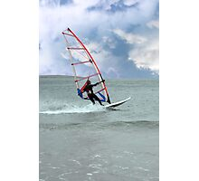 windsurfer in a storm Photographic Print
