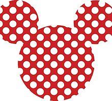 Mouse Silhouette Polka Dot Spotty Motif by nemofish