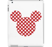 Mouse Silhouette Polka Dot Spotty Motif iPad Case/Skin