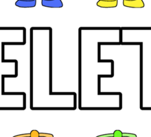 DELETE Sticker