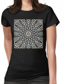Black And Gray Abstract Womens Fitted T-Shirt