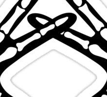 AXO Skeleton Hands Sticker