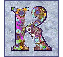 The Letter K Photographic Print