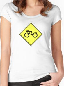 Grid Cyclists Only Women's Fitted Scoop T-Shirt