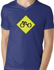 Grid Cyclists Only Mens V-Neck T-Shirt