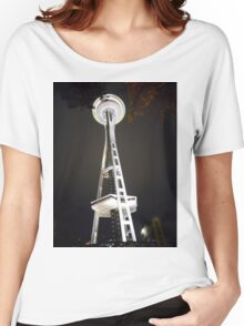 Space Needle at Night Women's Relaxed Fit T-Shirt