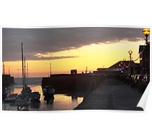 Aberaeron Harbour Sunset Poster