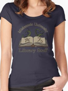 Cthulhu Tee Miskatonic U. Library Staff Women's Fitted Scoop T-Shirt
