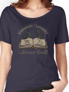 Cthulhu Tee Miskatonic U. Library Staff Women's Relaxed Fit T-Shirt