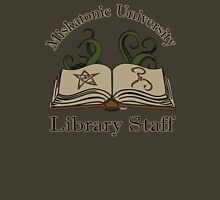 Cthulhu Tee Miskatonic U. Library Staff Womens Fitted T-Shirt