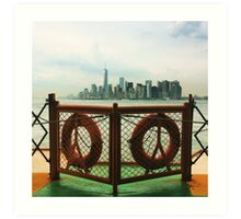 Hudson River NYC Art Print