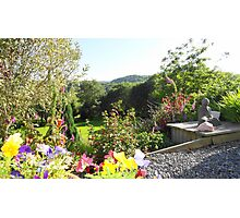 Buddha in Garden Photographic Print