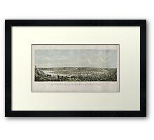 Panoramic Maps Pittsburgh Allegheny & Birmingham drawn from nature Framed Print