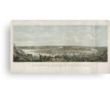 Panoramic Maps Pittsburgh Allegheny & Birmingham drawn from nature Canvas Print